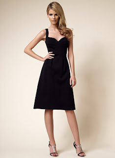 David Meister Black Banded Dance Dress