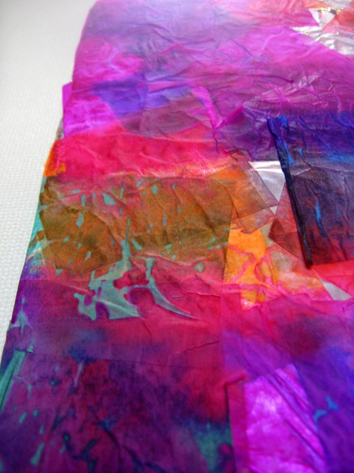 fun crafts for preschoolers tissue paper art