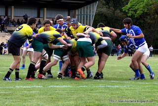 Rugby game in Castets
