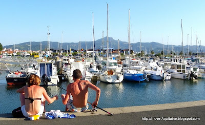 The marina in Hendaye