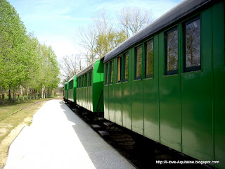 The train at Marquèze Ecomusée