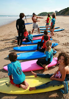Surf school for children