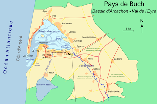 Map of Arcachon Bay