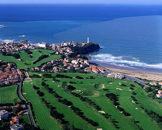 View over the Golf du Phare in Biarritz