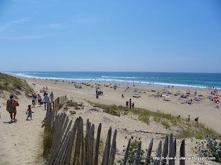 Lette Blanche beach in Landes