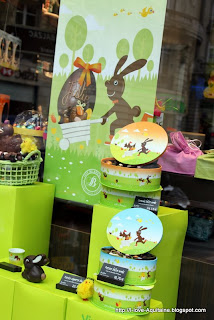 Easter chocolate shop window
