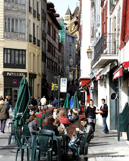Café at the Food Market square in Bayonne