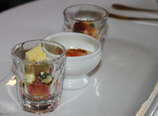 amuse bouches at Poustagnacq restaurant in Saint Paul lès Dax