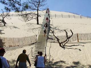 stairs at Pyla sand mountain