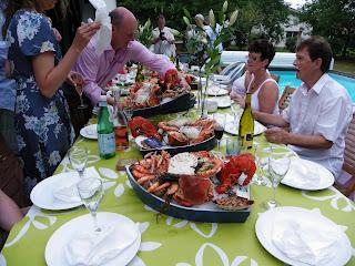 Seafood wedding dinner