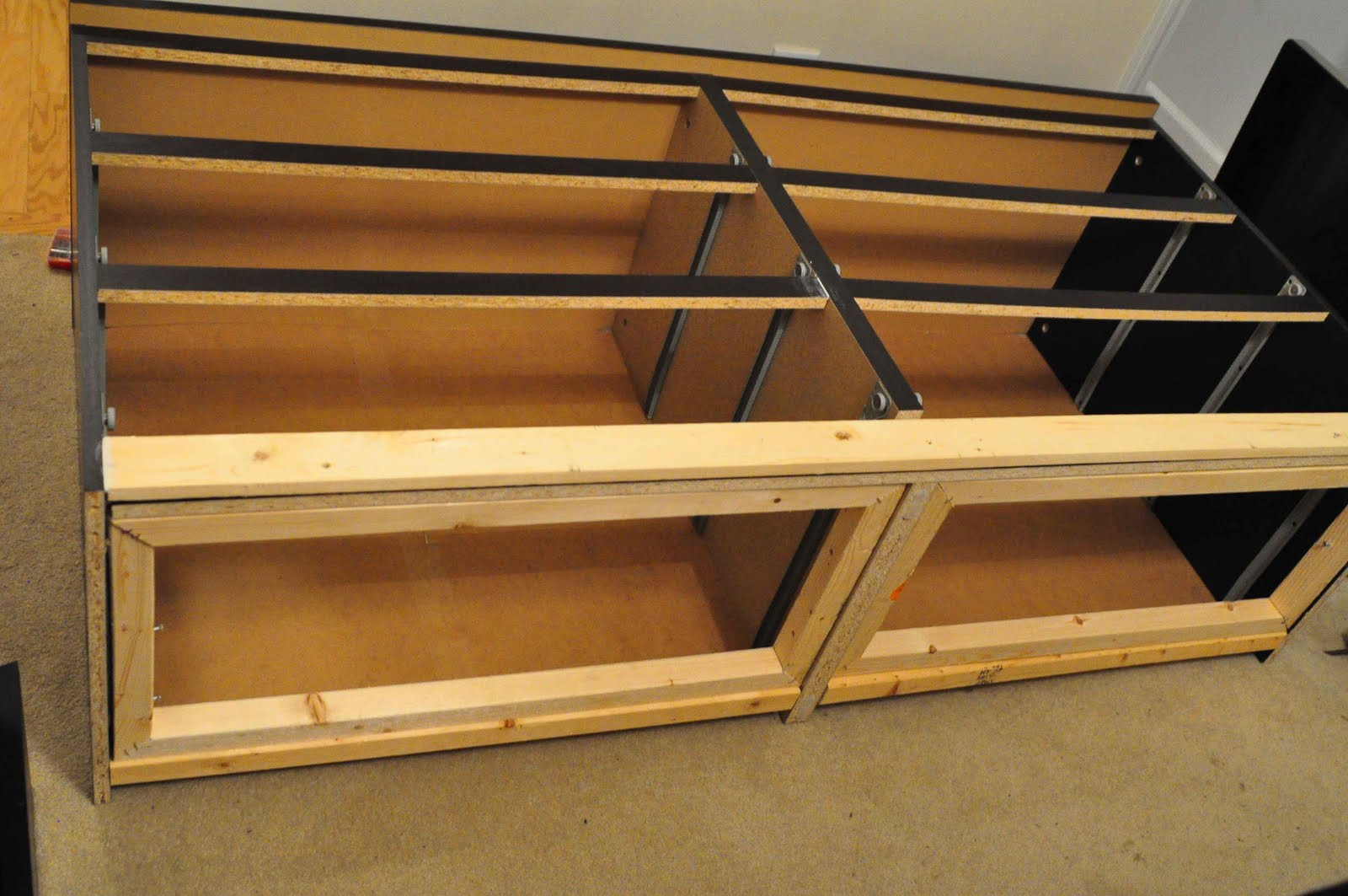 Make Frames For The Drawers I Just Used A Miter Box To Make The 45. Full resolution  portrait, nominally Width 1600 Height 1063 pixels, portrait with #C24902.