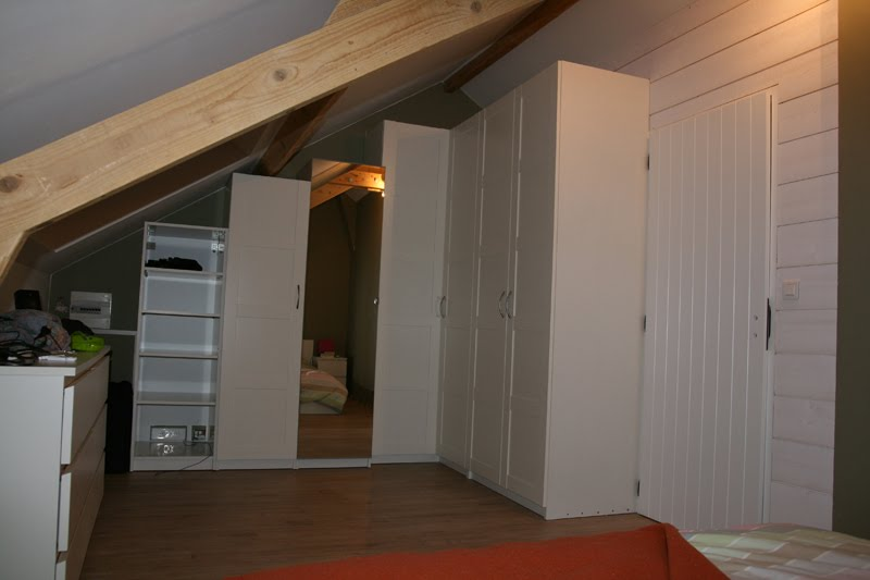 Refitting An Attic Room Storage And Room Divider