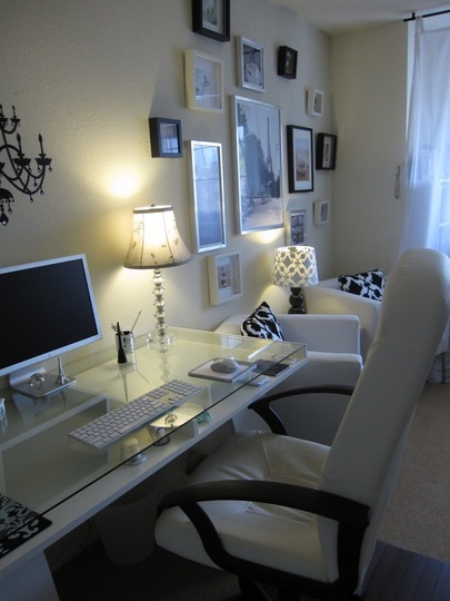 Eye candy an ikea furnished home office get home decorating for Office setup ideas
