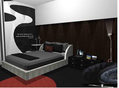 decoração de quarto de solteiro masculino