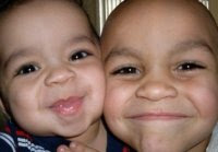 grandsons Baby Kenny and brother Devin
