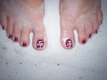 My Texas Aggie Toes in the Florida Sand