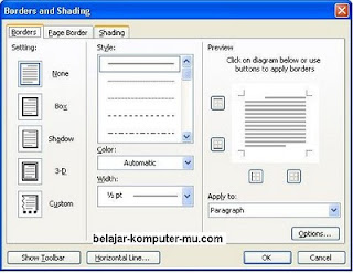 ... Results for: Cara Membuat Border Atau Bingkai Di Microsoft Word 2007