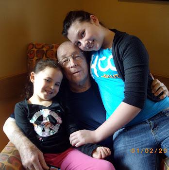 Joe with Emily and Samantha