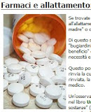 Farmaci in gravidanza e allattamento