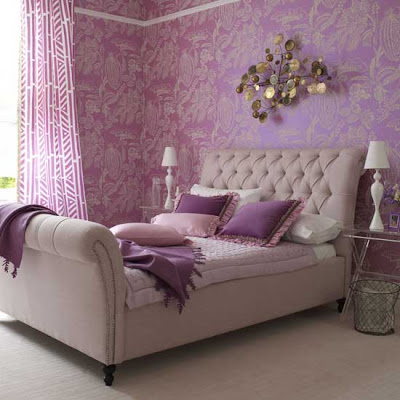 Purple Bedroom Accessories on We Love This Dreamy Purple Room With The Lucite Nightstands  Jealous