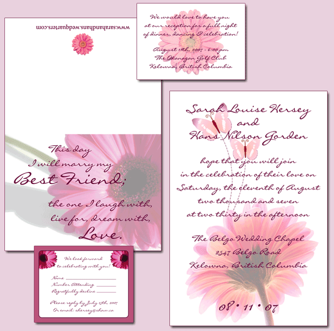 Depending on your wedding style there are four basic types of invitation