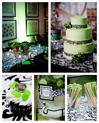 I 39m loving this color combination of black and white with pops of green