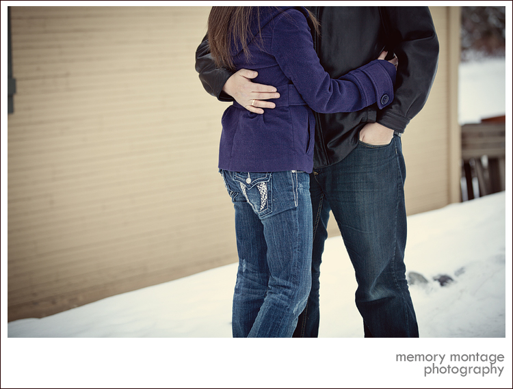 snow engagement pictures memory montage photography