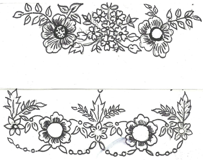 Saree Borders Sketch Border Design For Saree And