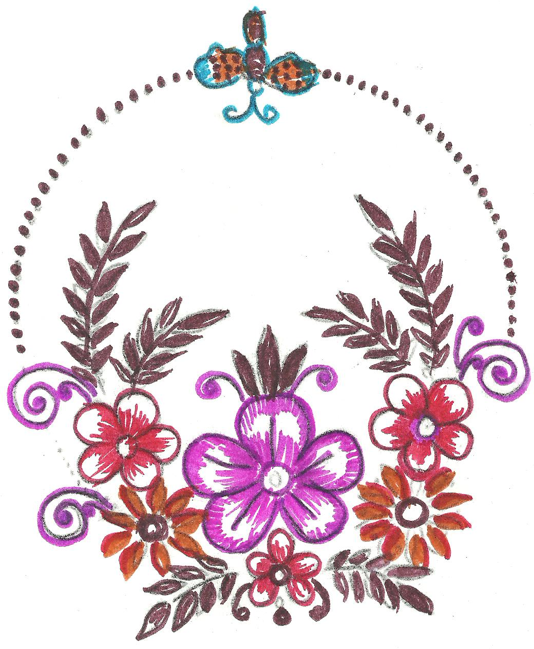 Mehndi,sketch,embroidery,painting: embroidery