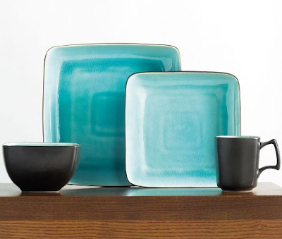 Gourmet Expressions u201cKrackle Aquau201d 16-Piece Dinnerware Set  sc 1 st  Everything Turquoise & Gourmet Expressions u201cKrackle Aquau201d 16-Piece Dinnerware Set ...