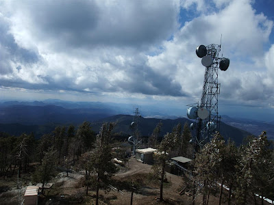 cell phone tower, mountain top, arizona
