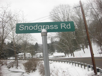 funny road sign, snodgrass rd, west virginia
