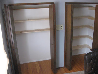instructions, directions, how to build closet shelves
