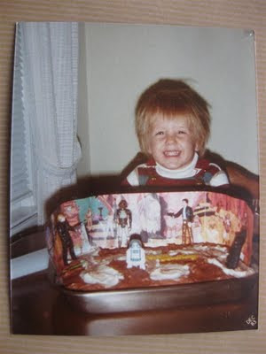 star wars birthday cake, han solo, luke skywalker, 1985, hair cut