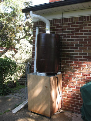 how to make a rain barrel, cheap, gutter, hose,