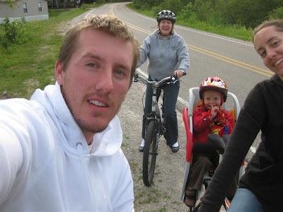 cottage, bike ride, family