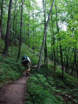 steep trail hike, manistee forest, southern michigan, 15 mile