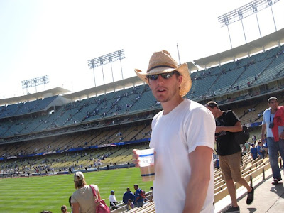 LA Dodgers stadium, center field, game