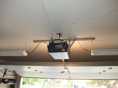 connect light to garage door opener, added light
