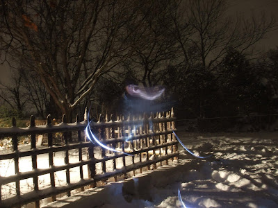 weird ghost effect, night photography
