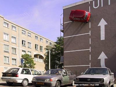 Van Laar S Car On Side Of Building
