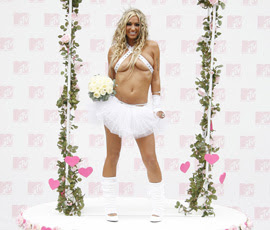 Jodie Marsh and her wedding legwarmers