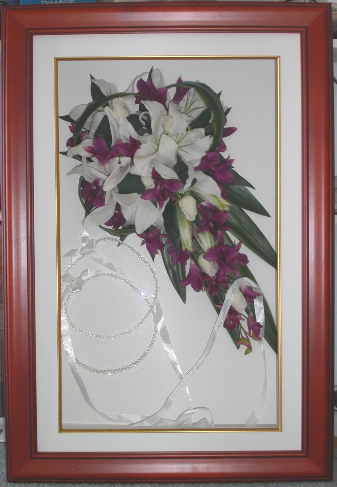 Framed Wedding Flowers
