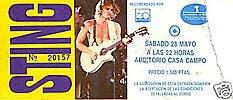 Sting. Auditorio de la Casa de Campo, Madrid, 28 de mayo de 1988