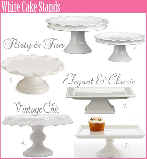 White Square Pedestal Cake Stand