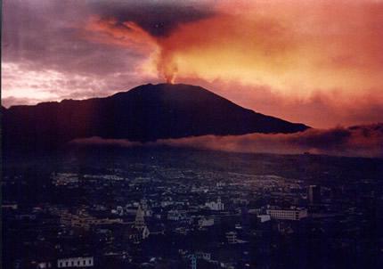Volcanoes in Colombia Galeras