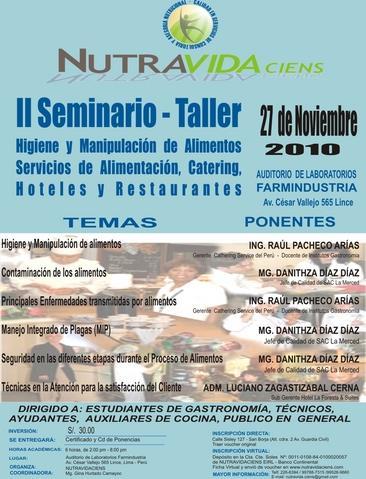 Ifnp ii seminario taller higiene y manipulaci n de for Higiene y manipulacion de alimentos pdf