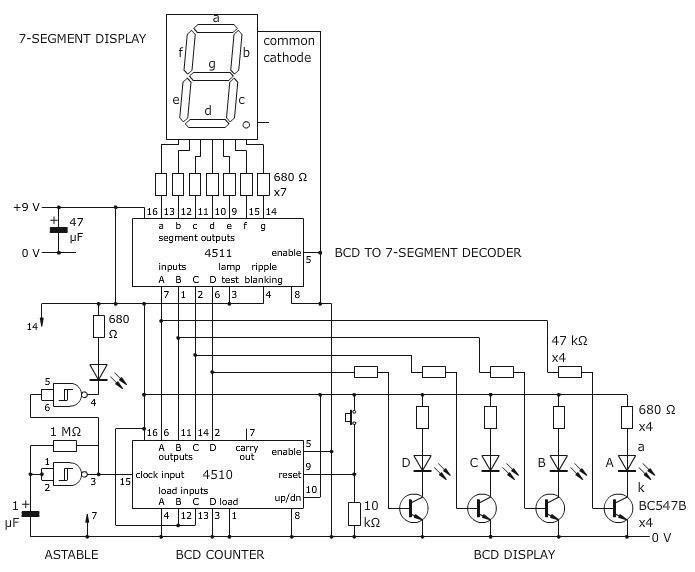 electronic  u0026 computer  seven segment circuit