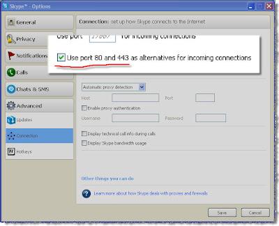 Skype option