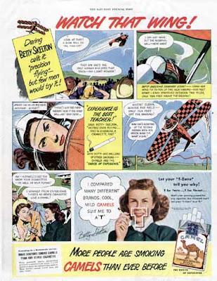CAMEL Ad -Daring BETTY SKELTON Precision Flying